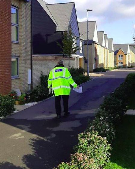 Crime prevention advice was the theme of a day of action by Cambridgeshire police, with hand delivered letters to homes...