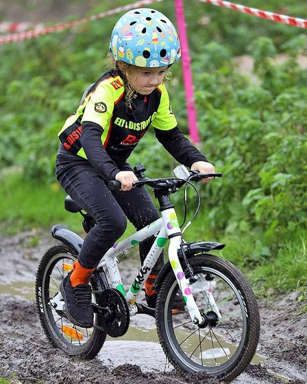 Aela Brown (pictured) finished in an impressive second place overall in the under 8s girls competition at the Muddy...