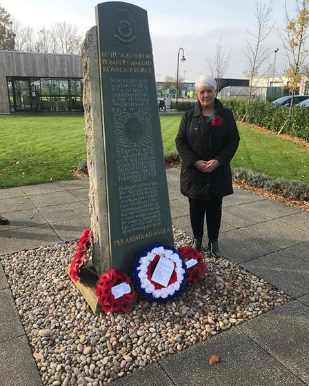 Due to Covid-19 restrictions, the Remembrance Day service at RAF Witchford memorial on Lancaster WAy Business Park had to...