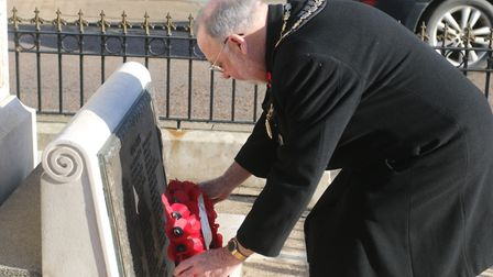 Whittlesey has been determined to play its part in remembering the fallen during lockdown. Mayor Cllr David Mason and Cllr...