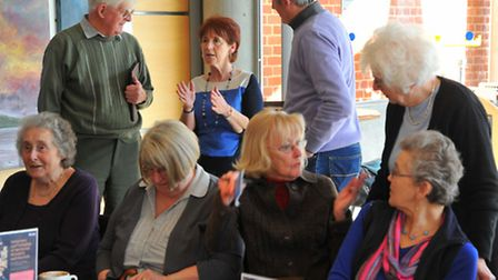 South Norfolk stroke support group meeting in Cafe Marzano at the Forum, Norwich. Photo: Steve Adams