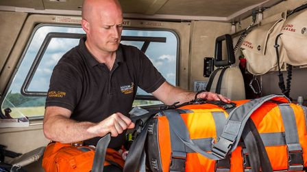 Dan Read (pictured), a critical care paramedic at Magpas Air Ambulance, was coming to the end of his day shift before...