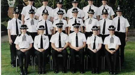 Former Cambs cops crew photo including PC Andew Rudd. Picture: Supplied/Archive