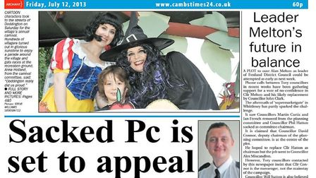 Andew Rudd appears on the front page of the Cambs Times newspaper in July 2013. Picture: Archant/Archive