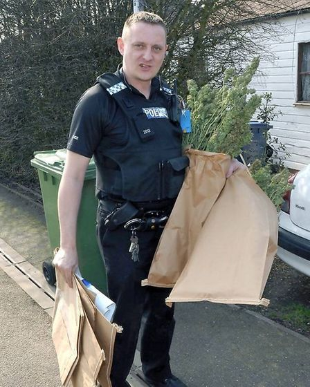Former PC Andrew Rudd pictured at work in Wisbech in 2012. Picture: Archant/Archive