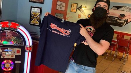 YouTuber BeardMeatsFood completes the challenge. Picture: Shooters American Diner