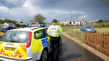 The scene in Hemsby where a young man was fatally injured at a party.PHOTO: ANTONY KELLY