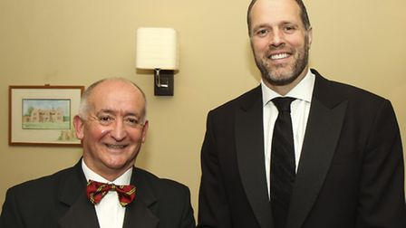 Former England forward Martin Bayfield was the guest speaker at Norwich RFC's end of season dinner a