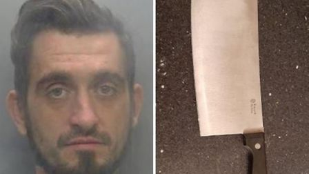 James Fitt, of no fixed abode, has been jailed again after he threatened a woman with a meat cleaver just hours after...