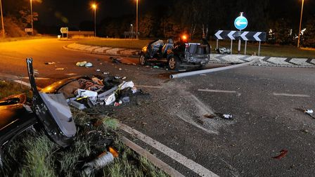 A driver who left a woman with a broken neck after crashing his car into a lamppost has been jailed.This was the scene of...