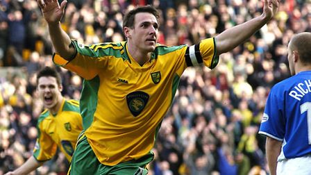 Malky Mackay celebrates scoring his first of two goals in a 3-1 Division One win against Ipswich in