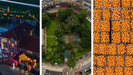 From a Christmas lights display in the Fens to a stunning view of Wisbech Castle and then pumpkins, looking like oranges...
