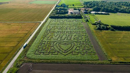 The stunning tribute to NHS workers on the frontline amid the ongoing coronavirus pandemic by Skylark Garden Centre near...