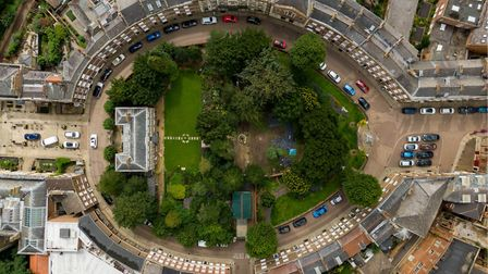 Aerial of Wisbech Castle. Town Centre , Wisbech Monday 20 July 2020. Picture by Terry Harris.