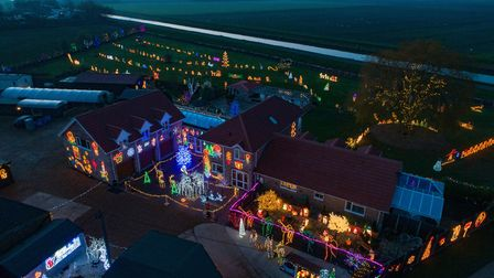 Picture supplied by Terry Harris/Bav Media 07976 880732.Picture shows Willow House Christmas lights, a large Christmas...