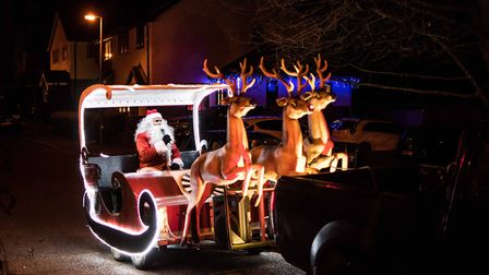 Santa's Sleigh is heading to Great Dunmow and district. Picture: GREAT DUNMOW ROUND TABLE