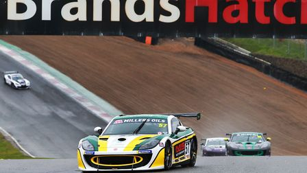 Felsted schoolboy Gus Burton won the final round of the Ginetta GT4 SuperCup at Brands Hatch. Picture: JAMES ROBERTS