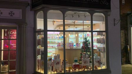 Scarlett and Stone in Great Dunmow has a festive window. Picture: SCARLETT AND STONE