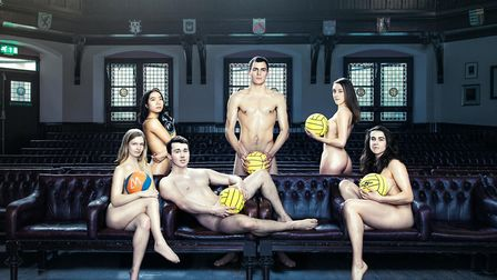 Men and women from Cambridge University?s sports clubs stripped down in a bid to raise some charity cash. Picture: Mike...