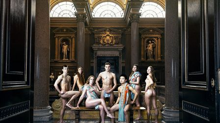 Men and women from Cambridge University's sports clubs stripped down in a bid to raise some charity cash. Picture: Mike...