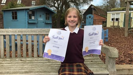 Felsted Prep School pupil Ellie aged 8 from Ashdon has raised over ?1,500 for two charities and donated her hair to the...
