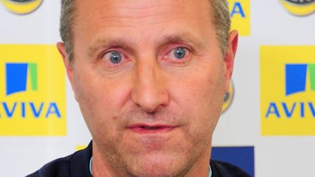 New Norwich City manager Neil Adams takes his first pre match press conference at Colney where the p