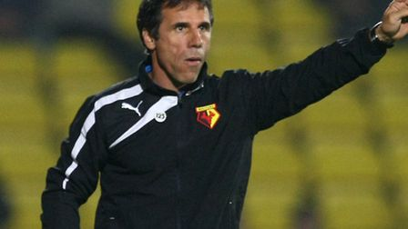 Picture by Paul Chesterton/Focus Images Ltd +44 7904 64026724/09/2013Watford Manager Gianfranco Zola
