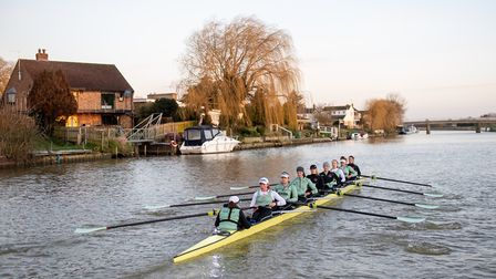 The Cambridge University women's team training on the River Great Ouse at Ely in 2019. Picture: JOE GIDDENS/PA