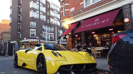 Supercar sitting in the streets of London. Picture: ScootSupercars