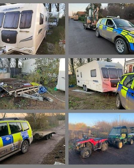 Rural crime cops in Willingham discovered a stolen digger and trailer in Willingham, along with a secret cannabis production ...