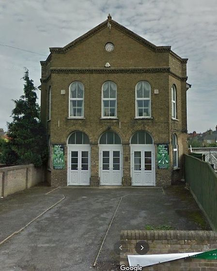 Former Baptist chapel in Chatteris that could switch from being a showroom to eight apartments. Picture; GOOGLE