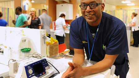 The A&E department at the Norfolk and Norwich University Hospital. Clinical director of the A&E, Vic