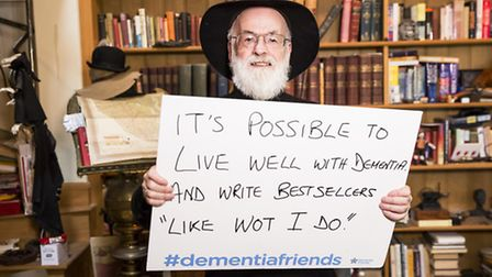 Terry Pratchett is supporting the new Dementia Friends campaign from Public Health England and Alzhe