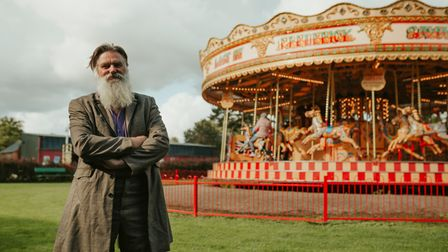 Museum Manager Al, with the Gallopers at Bressingham Steam Museum.