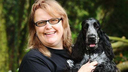 Louise Clarke who is organising a charity dog show for Prostate Cancer, which both her partner and d
