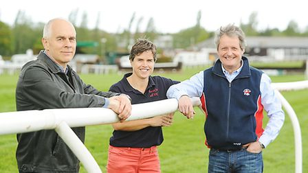 A fun run will be held around Fakenham race course this summer. Pictured are (from left) Richard Cro
