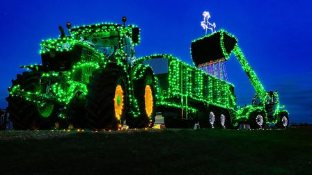 The unique Christmas display at Ben Burgess Coates. Picture: Martin Waby Photography