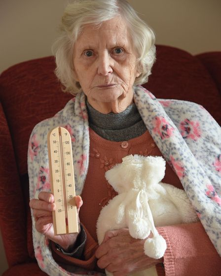 Betty Gipp, 83, from Bowthorpe, who has been without heating for the past six weeks after contractors for Norwich...