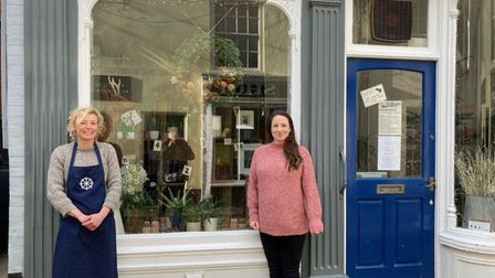 Becky Robinson and Jo Thompson standing outside Roost in Cromer