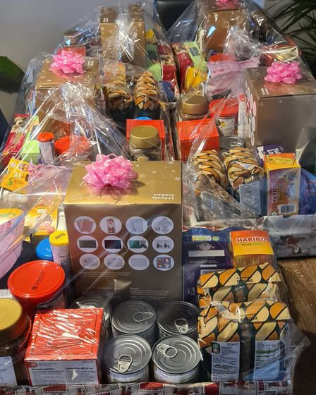 Items donated to the Costessey Community Hampers project for Christmas 2020.