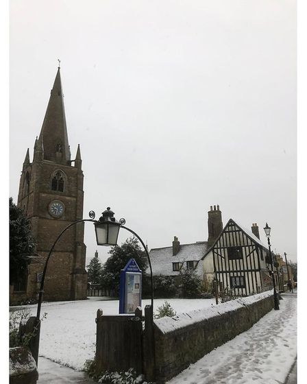 Stunning winter snaps show Ely Cathedral covered in snow this morning as the cold weather hit the city. Picture...