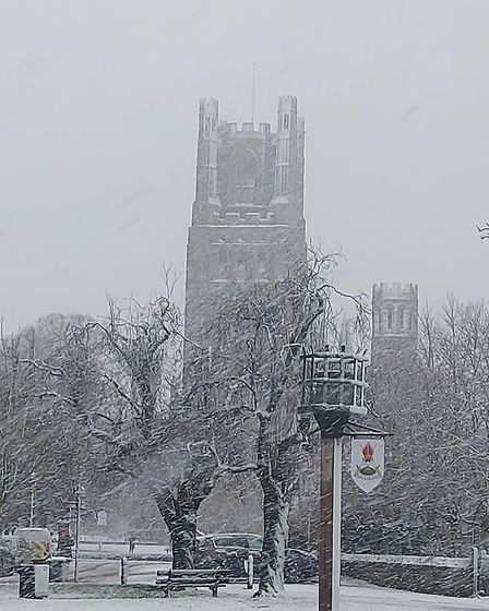 Morning snow in Ely today. Picture; SARA FOOTER