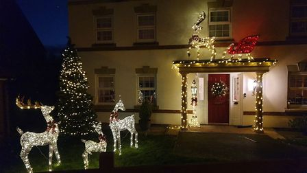 Flitch Green is spreading cheer with this Christmas display in Tyler Avenue, Flitch Green. Picture: DAVE HORN