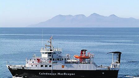 The ferry taking people to the Isle of Rum. Picture: Supplied