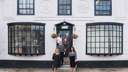 Staff outside the Dunmow office of Goody Burrett. Picture: Goody Burrett