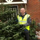 In January volunteers will visit homes to collect the Christmas trees. Picture: St Clare Hospice.