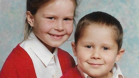 Rikki Neave in an intimate family photo with his sister Rebecca. Picture; FAMILY