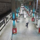 There was a dramatic decline in passenger numbers towards the end of March due to the Covid-19 restrictions. Picture...