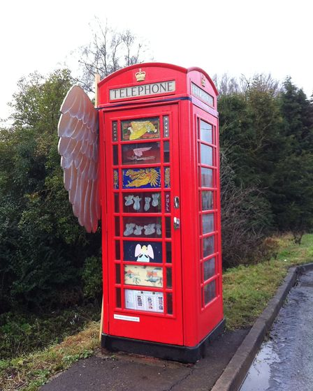 Prickwillow telephone box art gallery. This from the archives of recent years.