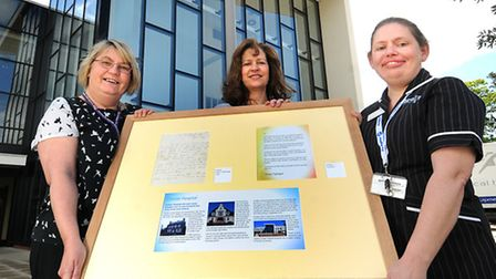 A letter written by Florence Nightingale will be on show at Cromer Hospital. Left to right, hospital